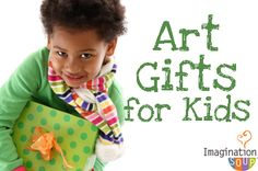 Unique gifts to inspire your young artist.  #kids #art #gifts