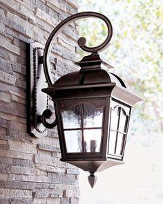 """Colonial""+Three-Light+Wall+Lantern+at+Neiman+Marcus."
