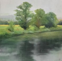 Maria Levinge Landscape Painting Soft Morning by the Derry Irish Landscape, List Of Artists, Source Of Inspiration, Landscape Paintings, Contemporary Art, Gallery, Artwork, Work Of Art, Roof Rack