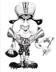 President Gerald Ford in a Ford political cartoon, 1974