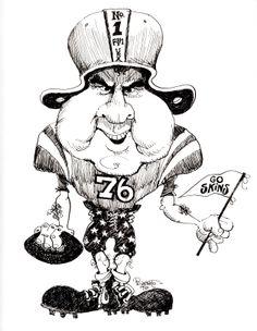 Nixon football fan political cartoon 1973.