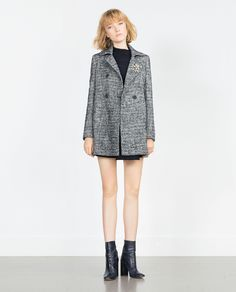 ZARA - WOMAN - WOOL HERRINGBONE COAT