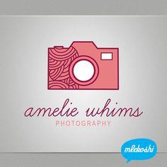 Premade Logo Custom Business Logo Design for Photographer, Boutique, Etsy Shop. Pre-made Logo, Photography Branding, Camera Logo. $37.00, via Etsy.