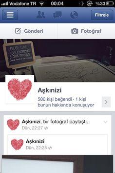 Facebook :Aşkınizi
