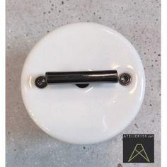 Interrupteur Rotatif DØ SURF en porcelaine blanche Nickel Externe (pose en saillie) - FONTINI