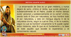 MISIONEROS DE LA PALABRA DIVINA: REFLEXIÓN - MISTERIO SIEMPRE NUEVO