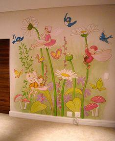 amaizing design for a kids wall room, wall art, wall sticker, wall deacal Kids Room Murals, Kids Room Wall Decals, Bedroom Murals, Wall Sticker, Art Mural 3d, 3d Wall Art, Wall Murals, Fairy Bedroom, Fairy Nursery