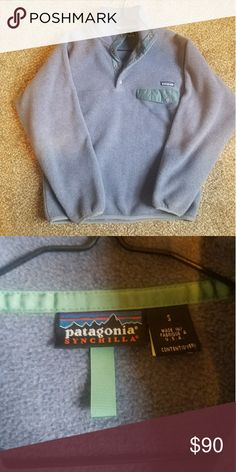 Patagonia Synchilla Never worn. Men's small or women's medium/large. Last picture is just for fit reference. Patagonia Sweaters