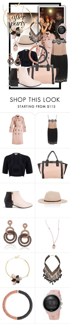 """""""blushing after dark"""" by caroline-buster-brown ❤ liked on Polyvore featuring Jennifer Lopez, Burberry, Alexander Wang, Michael Kors, Nine to Five, Eugenia Kim, Suzy Levian, Casa Reale, Marni and NAKAMOL"""