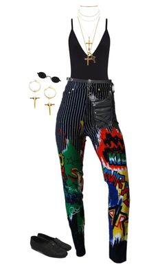 A fashion look from October 2017 featuring Versace, chanel loafers and antique gold earrings. Browse and shop related looks. Stylish Outfits, Cool Outfits, Fashion Outfits, Chanel Loafers, Night Outfits, Polyvore Fashion, Beachwear, Style Me, Fashion Looks
