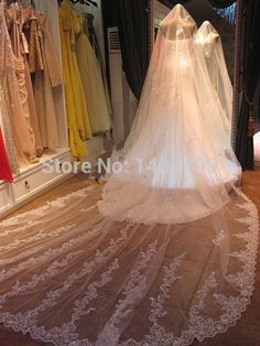 Cheap Bridal Veils, Buy Directly from China Suppliers: casamento Veil of Bride Lace Wedding Veils with Crystal Wedding Accessories Long Bridal Veil 2014 boda veu de noiva lon