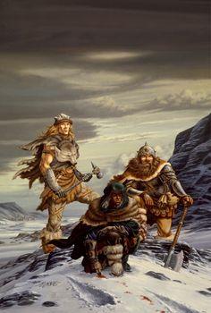 Drizzt, Wulfgar and Bruenor. Companions of the Hall.