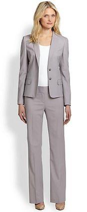 On the blog: Jaella Pinstripe Jacket and  Tuliana Pinstripe Trousers #BossHugoBoss #Jacket #Pants