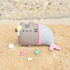The Purrfect Companion? Mermaid Toys, Mermaid Cat, Pusheen Cat, Pusheen Stuff, Grumpy Cats, Pusheen Birthday, Cute Squishies, Kitty Games, Cool Stuff
