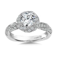 - Diamond Halo Engagement Ring in White Gold with Platinum Head ct. Classic Engagement Rings, Engagement Ring Styles, Halo Diamond Engagement Ring, Engagement Ring Jewelers, Fashion Rings, White Gold, Jewelry, Dresses, Vestidos