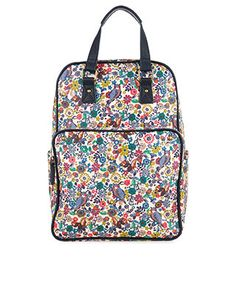 This colourful woodland-print backpack features a zipped main compartment, a front pocket and two side pockets, plus a detachable gadget case. Double top handles and adjustable shoulder straps provide convenience and comfort for on-the-go girls.