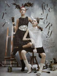 #VogueKorea [] Art Factory [] Kim Jin Kyung n' Lee Ho Jung  [] by Kim Bo Sung [] March 2014 [] [] []