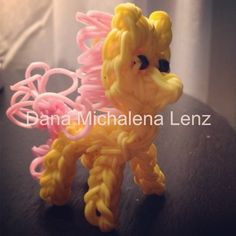Rainbow Loom Pony Fluttershy I have to make this for bug!!!!!