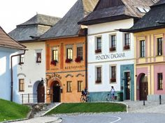 An example of a typical architecture of slovak houses from to the beginning of century. These three floored, six-window-facade and front entrance have been built in towns. Country ones had usually two floor, two facade windows and side entrance. Beautiful Places To Visit, Wonderful Places, European Countries, Central Europe, Bratislava, Eastern Europe, Slovenia, Czech Republic, Old Houses