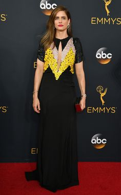 Amanda Peet from 2016 Emmys Red Carpet Arrivals  In Altuzarra