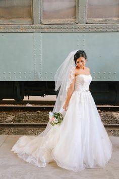 Maggiebride Melanie Wearing Zendaya By Maggie Sottero At Her Los Angeles Wedding Elizabeth Burgi