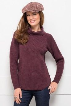 Le pull en laine cashwool col boule -Mailla anglaise perlée - Collection Automne Hiver 2014 - www.bernard-solfin.fr
