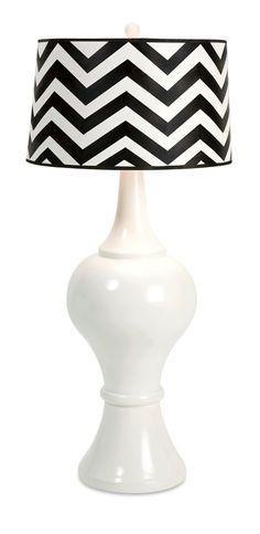 Pizzazz! Home Decor - Black and White Chevron Oversized Lamp, $399.00 (pizzazzhomedecor....)  repin it if you like it