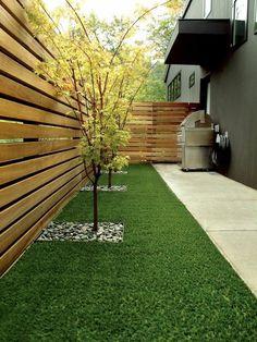 panneau occultant de jardin, un extérieur élégant