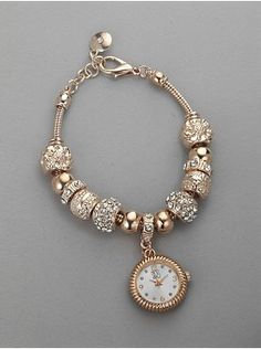 Beaded Bracelet Watch from New York & Company