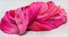 Hand Dyed Yarn, Merino Wool, Coral, Neon, Stitch, Orange, Pink, Full Stop, Neon Colors