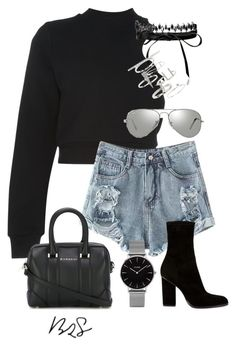 """#754"" by blendingtwostyles ❤ liked on Polyvore featuring T By Alexander Wang, Fallon, Alexander Wang, Topshop, Givenchy and Ray-Ban"