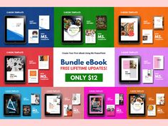 Bundle eBook Template Pages, PowerPoint Template, Bullet Journal Template, Project Proposal, Wo Recipe Book Templates, Project Proposal Template, Change Picture, 26 November, Journal Template, Cover Template, Self Publishing, Brochure Template