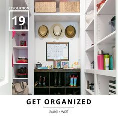 Create order in your life. Prepare yourself for success this year with guidance from a Laurel & Wolf interior designer.  #31Resolutions #GetYourDesignOn