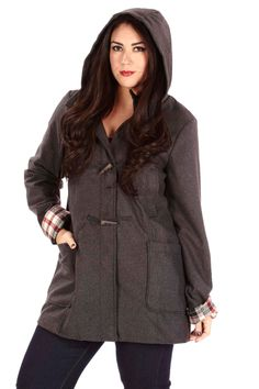 Hooded Toggle-Button Coat | Danice Stores