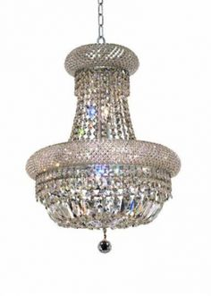 Adele - Hanging Fixture (8 Light Modern Hanging Crystal Chandelier) - 1533D16. This Adele - Hanging Fixture (8 Light Modern Hanging Crystal Chandelier), is comprised of only the finest chandelier crystals and structure materials..  This elegant lighting fixtures, comes in a variety of finishes, crystal trims (including Heirloom Grandcut, Heirloom Handcut, Swarovski Elements & Swarovski Spectra) and crystal colors.  Finish, crystal trim and crystal color are all dependent on the model (check…