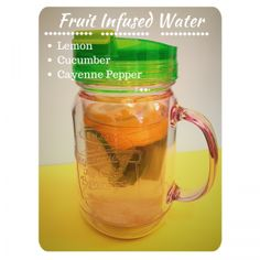 Refreshing, Detox Natural Flavoured Water - Lemon, Cucumber, Cayenne Pepper