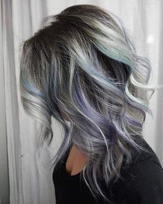 For fellow UNICORN TRIBE MEMBER @kattcolors today I used @fanola_usa 5.11 with 10vl and pulled her last colour out with Fanola Neutral and 40vl. Then after rinsing and drying I applied @sparkscolor Starlight Silver + @joico Light Purple she was left with hints of her old colour combination so I kept the Mermaid Blue and used it in the creation....