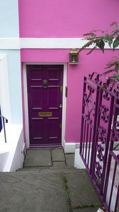 Purple door....Pink wall