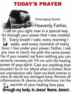 I Tamara Roth your daughter pray this in Jesus Christ name Amen ❤ Prayer Times, Prayer Verses, Faith Prayer, God Prayer, Prayer Quotes, Spiritual Quotes, Bible Verses, Bible Quotes, Healing Scriptures