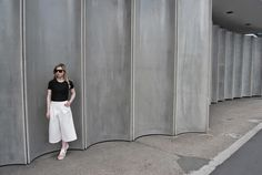 concrete collar #concretecollar  #fashionandarchitecture #culottes #neoprene