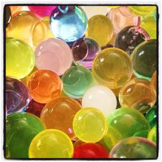 Water marbles...