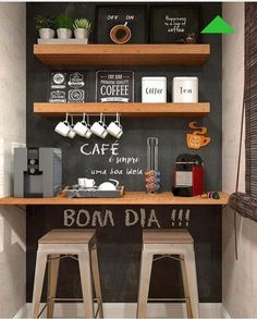 Awesome Home Coffee Stations Ideas Momooze - Looking for an Inspir . - Awesome Home Coffee Stations Ideas Momooze – Are you looking for inspiration to design your o - Coffee Bars In Kitchen, Coffee Bar Home, Home Coffee Stations, Coffe Bar, Office Coffee Station, Mini Cafeteria, Diy Kitchen, Kitchen Decor, Family Kitchen
