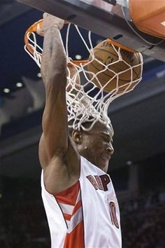 Toronto Raptors' DeMar DeRozan scores against the Phoenix Suns during the first half of an NBA basketball game Friday, Nov. 30, 2012, in Toronto. (AP Photo/The Canadian Press, Chris Young)