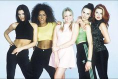 Spice Girls, the early years Spice Girls Costumes, Girl Group Halloween Costumes, Pop Star Costumes, Halloween Costumes To Make, Girl Costumes, Classic Outfits, Simple Outfits, Ginger Spice Costume, Spice Girls Movie