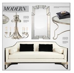 """""""Modern Living Room"""" by kathykuohome ❤ liked on Polyvore featuring interior, interiors, interior design, home, home decor, interior decorating, living room, modern, Home and livingroomdecor"""