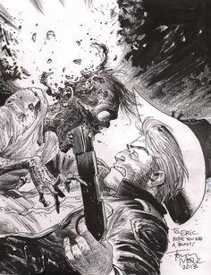 Tony Moore – The Walking Dead Comic Art