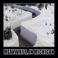 Yoopers unite!  yep, seen this....and YES it is dangerous to drive because you can't see around the WALLS of snow!   People where I live now have NO CLUE!!!