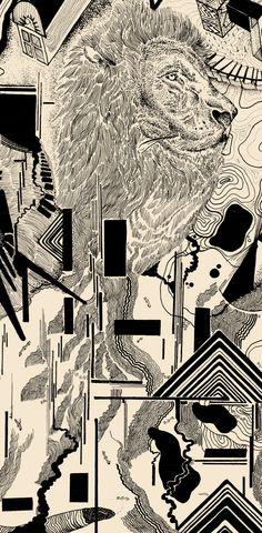 EVO - Imarginal x Sang #dotwork #nankin #art #surrealism #posca #blackwork #ttt #imarginal #sang #aeo #illustration #duo #stadler #linework #lines #black #space #scifi #fiction #sun #spaceship #lion #hands  #geometry #biology #future