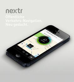 Nextr App. Öffentliche Verkehrs-Navigation. Neu gedacht.