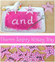 Unicorn Sensory Writing Tray